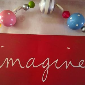 "Handmade ""Imagine"" Wall Hanging"